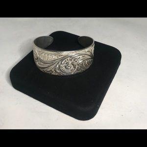 Beautiful silver cuff.